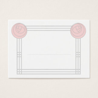 Art Nouveau Rose Frame Wedding Meal Seating Cards