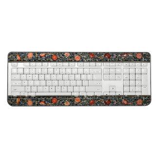 Art Nouveau Roses Flowers Morris Wireless Keyboard