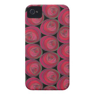 Art Nouveau Roses in Pink & Red Blackberry Bold iPhone 4 Cases