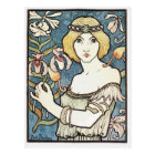 """Art Nouveau """"Salon des Cents"""" Postcard"""