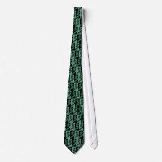 Art Nouveau Seahorse Tie - Green