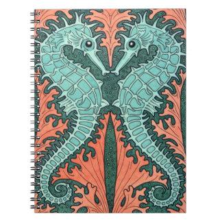 Art Nouveau Seahorses Notebook