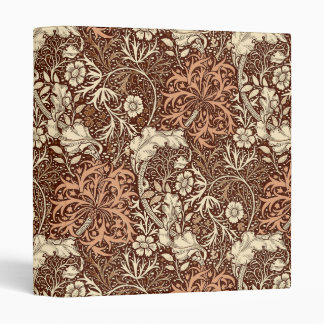 Art Nouveau Seaweed Floral, Brown and Beige Binder