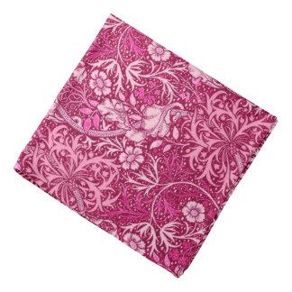 Art Nouveau Seaweed Floral, Burgundy & Coral Pink Bandana