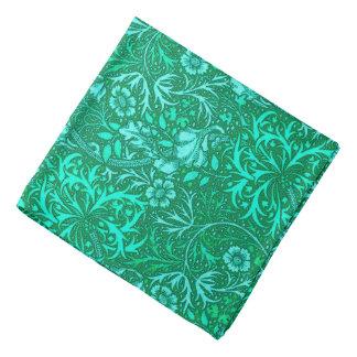 Art Nouveau Seaweed Floral, Turquoise and Aqua Bandana