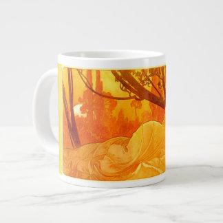 Art Nouveau Sleeping Maiden Jumbo Mug