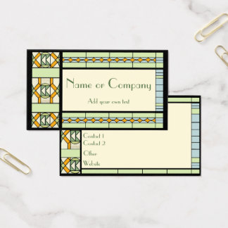 Art Nouveau Stained Glass Business Card