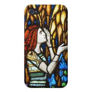 Art Nouveau Stained Glass Fantasy Fairies Case For iPhone 4