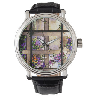 Art Nouveau Stained Glass Tiffany Nature Watches