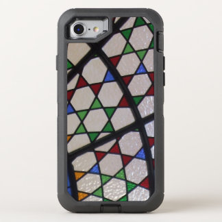 Art nouveau stained glass window OtterBox defender iPhone 7 case