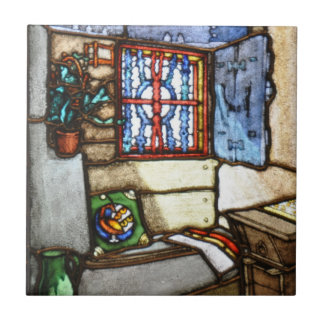 Art Nouveau Stained Glass Windows - Tile