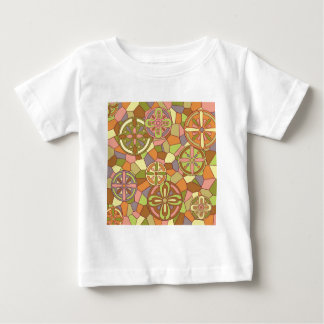 Art nouveau stained glasses baby T-Shirt