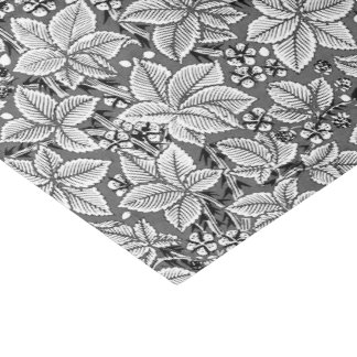 Art Nouveau Strawberries and Leaves, Gray & White Tissue Paper