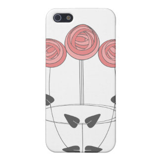 Art Nouveau Style Rose Bouquet in Pink and Grey Cases For iPhone 5