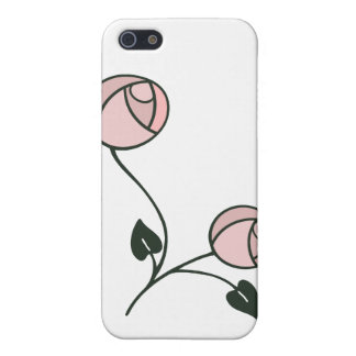 Art Nouveau Style Roses in Pink, Mauve and Green iPhone 5 Cover