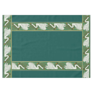Art Nouveau Swan Birds Wildlife Animals Tablecloth