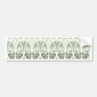 Art nouveau,teal,beige,floral,belle époque,vintage bumper sticker