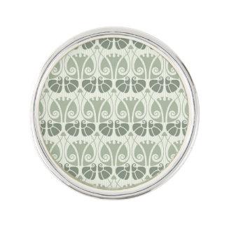 Art nouveau,teal,beige,floral,belle époque,vintage lapel pin