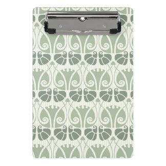 Art nouveau,teal,beige,floral,belle époque,vintage mini clipboard