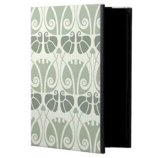 Art nouveau,teal,beige,floral,belle époque,vintage powis iPad air 2 case