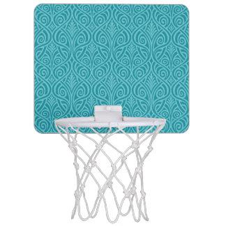 art nouveau, teal,green,art deco, vintage,damask,f mini basketball hoop
