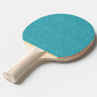 art nouveau, teal,green,art deco, vintage,damask,f ping pong paddle