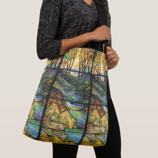 Art Nouveau Tiffany Stained Glass Deer Tote Bag