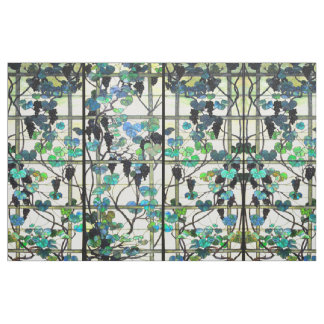 Art Nouveau Tiffany Stained Glass Grapevine Fabric