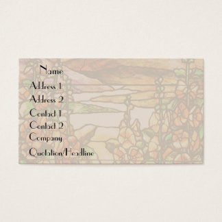 Art Nouveau Tiffany Stained Glass Nature Business Card