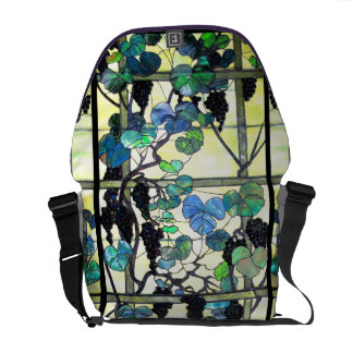 Art Nouveau Tiffany Stained Glass Nature Courier Bags