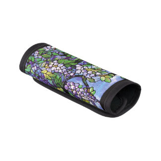 Art Nouveau Tiffany Stained Glass Nature Luggage Handle Wrap