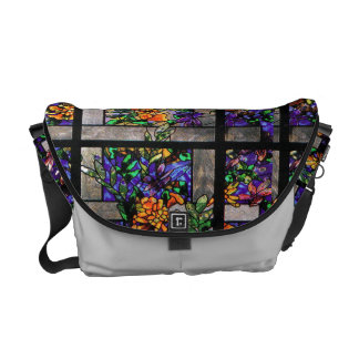 Art Nouveau Tiffany Stained Glass Nature Messenger Bag