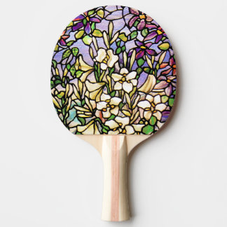 Art Nouveau Tiffany Stained Glass Nature Ping Pong Paddle