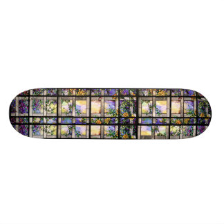 Art Nouveau Tiffany Stained Glass Nature Skate Decks