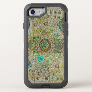 Art nouveau tile mosaic OtterBox defender iPhone 8/7 case