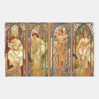 Art Nouveau Times of Day Sticker