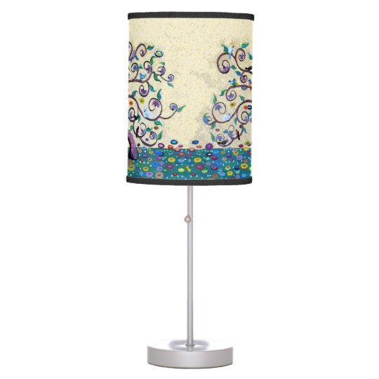 Art nouveau Tree of Life Table Lamp