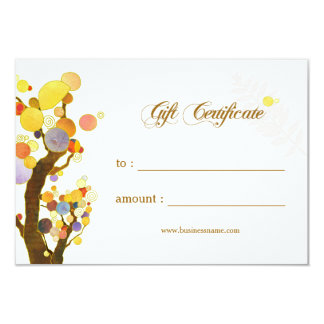 Art Nouveau Trees Business Gift Certificate Card