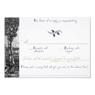 Art Nouveau Trees Sophisticated Wedding Invitation