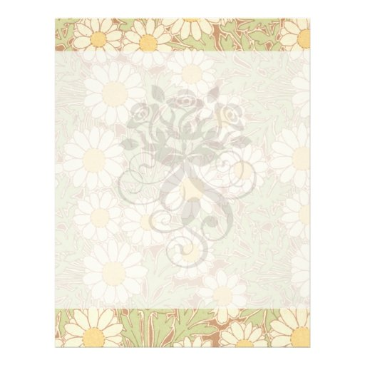 art nouveau vintage daisies daisy pattern full color flyer