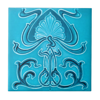 Art Nouveau Vintage Design Feature Tile 2 Sizes