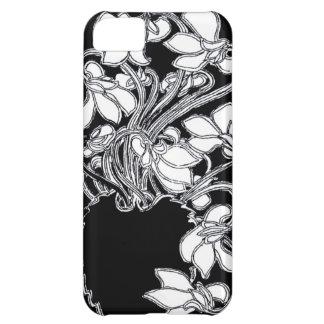 Art Nouveau Vintage Floral Black & White Case Cover For iPhone 5C