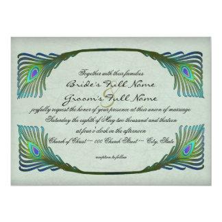 Art Nouveau Vintage Style Wedding Card