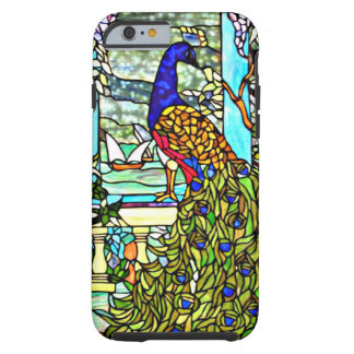 Art Nouveau Vintage Tiffany Stained Glass Peacock Tough iPhone 6 Case