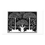 Art Nouveau Vintage Tree Pattern Business Card