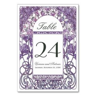 Art Nouveau Vintage Wedding Table Numbers