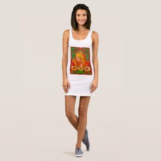 Art Nouveau Watercolor Womanw/Sunflowers Art Dress