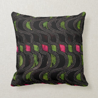 Art Nouveau Wave Pattern Pillow