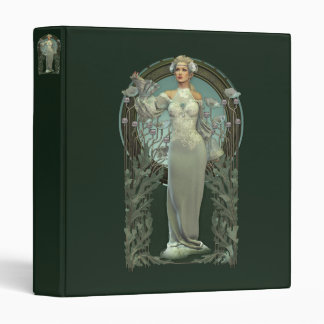 Art Nouveau White Lady Binder