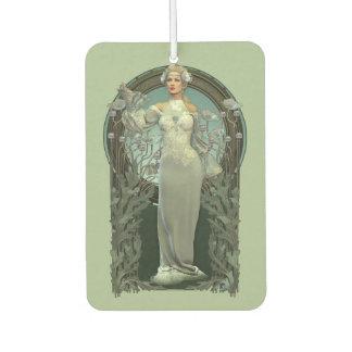 Art Nouveau White Lady Car Air Freshener